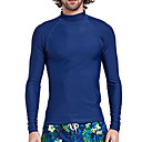 tanie Pianki, skafandry i koszulki-SBART Męskie Docieplacze Ochrona przeciwsłoneczna UV, Kompresja Spandeks / Chinlon Długi rękaw Stroje kąpielowe Stroje plażowe Docieplacze Pływacki / Surfing / Sporty wodne