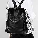 cheap Backpacks-Women's Bags Cowhide Backpack Zipper Black