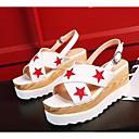 povoljno Ženske sandale-Žene Cipele PU Ljeto Udobne cipele Sandale Creepersice Obala / Crn