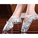 tanie Obuwie dziewczęce-Dla dziewczynek Baletki Sztuczna skóra Płaski obca Pozłacana przezroczysta pięta Personlaizowane Buty do tańca Złoty / Srebrny / Wydajność