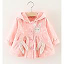 ieftine Îmbrăcăminte Bebeluși-Bebelus Fete De Bază Mată Manșon Lung Regular Poliester Pardesiu Roz Îmbujorat / Copil