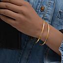 preiswerte Modische Ohrringe-2pcs Damen Skulptur Armreife Manschetten-Armbänder - vergoldet damas, Ethnisch Armbänder Schmuck Gold Für Party Geschenk