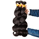 cheap Drinkware Accessories-3 Bundles Indian Hair Wavy Human Hair Natural Color Hair Weaves / Hair Bulk / Extension 8-28 inch Black Natural Color Human Hair Weaves Machine Made Hot Sale / 100% Virgin Human Hair Extensions