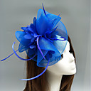 cheap Party Headpieces-Feather / Net Fascinators / Hats / Headdress with Feather / Floral / Flower 1pc Wedding / Special Occasion Headpiece