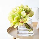 baratos Flor artificiali-Flores artificiais 1 Ramo Clássico Estilo simples / buquês de Noiva Orquideas Flor de Mesa