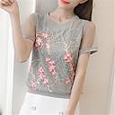 tanie Luksusowe Duvet Okładki-koszulka damska - jednolity okrągły dekolt