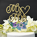 cheap Cake Toppers-Cake Topper Classic Theme / Wedding Cut Out Acryic / Polyester Wedding / Anniversary with Acrylic 1 pcs PVC Box