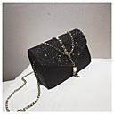 رخيصةأون حقائب الكتف-للمرأة أكياس PU حقيبة الكتف شرابة هندسي أسود / رمادي / بني