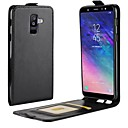 cheap Cell Phone Cases & Screen Protectors-Case For Samsung Galaxy A8 2018 / A6 (2018) Card Holder / Flip Full Body Cases Solid Colored Hard PU Leather for A6 (2018) / A6+ (2018) / A8 2018