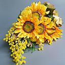 ieftine Flor Artificiales-Flori artificiale 1 ramură Clasic Nuntă Floarea soarelui Față de masă flori