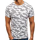 billige Cartoon dynebetræk-Rund hals Herre - camouflage Bomuld Plusstørrelser T-shirt / Kortærmet