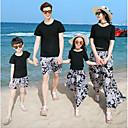 ieftine Set Îmbrăcăminte De Familie-Adulți Familie Uite Floral Manșon scurt Tricou