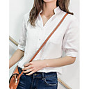cheap Car Seat Covers-Women's Shirt - Solid Colored Shirt Collar