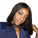 cheap Human Hair Wigs-Remy Human Hair Lace Front Wig Brazilian Hair Straight Wig Bob Short Bob Middle Part 130% Density with Baby Hair Silky Natural Hairline Unprocessed Bleached Knots Natural Women's Short Human Hair
