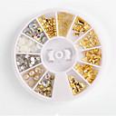 billige Fiskesluker & fluer-1 pcs Glimmer Negle Smykker Stilig Design Neglekunst Manikyr pedikyr Dagligdagstøy metallic / Punk Lolita / Nail Smykker