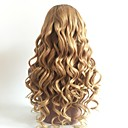 cheap Videogame Cosplay Wigs-Remy Human Hair U Part Wig Layered Haircut Beyonce style Brazilian Hair Wavy Blonde Wig 130% Density with Baby Hair Color Gradient Dark Roots Blonde Women's Short Medium Length Long Human Hair Lace