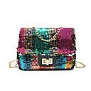 cheap Latin Shoes-Women's Bags PU(Polyurethane) Shoulder Bag Sequin / Zipper Rainbow