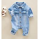 זול אוברולים טריים לתינוקות-יוניסקס בסיסי כותנה מכנסיים - פרחוני / דפוס קשת 90 / פעוטות