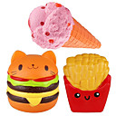 cheap Gags & Practical Jokes-LT.Squishies Squeeze Toy / Sensory Toy / Stress Reliever Food Stress and Anxiety Relief / Decompression Toys 3 pcs Children's All Gift