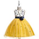 ieftine Seturi Îmbrăcăminte Fete-Copii Fete Peteci Fără manșon Rochie