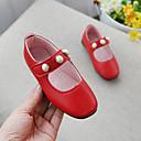 povoljno Cipele za djevojčice-Djevojčice Cipele PU Proljeće ljeto Udobne cipele / Obuća za male djeveruše Ravne cipele Hodanje Umjetni biser za Tinejdžer Crvena / Pink / Tamno smeđa