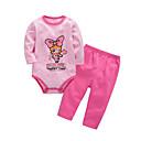 ieftine Set Îmbrăcăminte Bebeluși-Bebelus Fete Imprimeu Manșon Lung Set Îmbrăcăminte