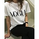 preiswerte Modische Ohrringe-Damen Solide / Buchstabe Baumwolle T-shirt