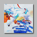 baratos Pinturas a Óleo-Pintura a Óleo Pintados à mão - Abstrato Contemprâneo / Modern Tela de pintura