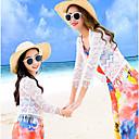 ieftine Set Îmbrăcăminte De Familie-Adulți Mama și cu mine Floral Manșon Jumate Bluză