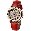 cheap Synthetic Capless Wigs-SHIFENMEI Women's Wrist Watch Japanese Water Resistant / Water Proof / Creative / New Design Genuine Leather Band Luxury / Fashion Black / White / Red / Imitation Diamond