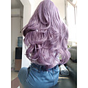 cheap Synthetic Lace Wigs-Synthetic Lace Front Wig Wavy Style Layered Haircut Lace Front Wig Purple Dark Purple Synthetic Hair Women's Curler & straightener Purple Wig Medium Length Skyworth Natural Wigs / Yes