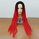 cheap Synthetic Lace Wigs-Synthetic Wig Curly Style Braid Capless Wig Red Black / Red Synthetic Hair Women's Ombre Hair / Middle Part / Braided Wig Red Wig Long Cosplay Wig