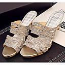 povoljno Ženske sandale-Žene Cipele Sintetika Ljeto Udobne cipele Sandale Stiletto potpetica Zlato / Pink