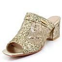 ieftine Tocuri de Damă-Pentru femei Pantofi PU Primavara vara Pantof cu Berete Papuci & Flip-flops Toc Îndesat Pantofi vârf deschis Negru / Argintiu / Roz