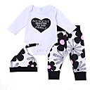 cheap Baby Shoes-Baby Girls' Active / Basic Print Long Sleeve Long Cotton Clothing Set