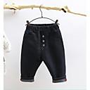 ieftine Pantaloni Băieți-Copii Băieți Șic Stradă Mată Bumbac Pantaloni Negru 150