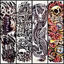 billige Midlertidige tatoveringer-4 pcs Tatoveringsklistremerker midlertidige Tatoveringer Totem Serier kropps~~POS=TRUNC arm
