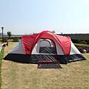 رخيصةأون مفارش و خيم و كانوبي-8 أشخاص خيمة كبيرة خيمة التخييم العائلية في الهواء الطلق ضد الهواء مكتشف الأمطار طبقات مزدوجة قطب الماسورة القبة خيمة التخييم 2000-3000 mm إلى Camping / Hiking / Caving تنزه البوليستر أكسفورد بوليستر