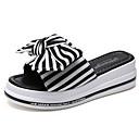 ieftine Sandale de Damă-Pentru femei Pantofi Pânză Vară Pantof cu Berete Sandale Creepers Funde Negru / Rosu / Dungi