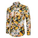 billige Tilbehør til herrer-Skjorte Herre - Blomstret, Trykt mønster Grunnleggende