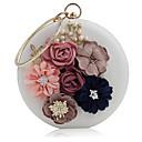 ieftine Genți De Seară & Plicuri-Pentru femei Genți PU Geantă Seară Flori Alb / Negru / Roz Îmbujorat
