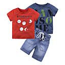 ieftine Pantaloni Băieți-Copil Băieți Imprimeu Manșon scurt Set Îmbrăcăminte