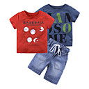 cheap Boys' Clothing Sets-Toddler Boys' Print Short Sleeve Clothing Set