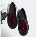 povoljno Ženske cipele bez vezica-Žene Cipele Mekana koža Ljeto Udobne cipele Natikače i mokasinke Creepersice Zatvorena Toe Crn / Lila-roza
