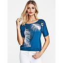 baratos Camisas, Shorts & Calças de Corrida-Mulheres Camiseta Vintage Geométrica