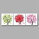 baratos Impressões-Estampado Laminado Impressão De Canvas / Estampados de Lonas Esticada - Abstrato / Floral / Botânico Modern
