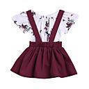 ieftine Set Îmbrăcăminte Bebeluși-Bebelus Fete Floral Manșon scurt Set Îmbrăcăminte