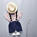ieftine Set Îmbrăcăminte Băieți Bebeluși-Bebelus Băieți Plisat Manșon scurt Set Îmbrăcăminte