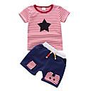 cheap Baby Boys' One-Piece-Baby Boys' Striped Short Sleeve Clothing Set