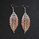 זול סט תכשיטים-בגדי ריקוד נשים עגילי טיפה - Leaf Shape ארופאי, אופנתי זהב / כסף / קשת עבור חתונה / יומי